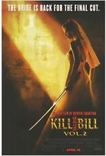 KILL BILL VOL 2 Movie Poster - Tarantino Full Size 24x36 - Uma Thurman Bride