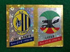 CALCIATORI 1995-96 95-1996 n 563 JUVE STABIA LECCE SCUDETTO  Figurina Panini NEW