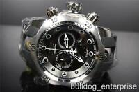 Mens Invicta 1404 Reserve Venom Black Chronograph Swiss Made Watch New