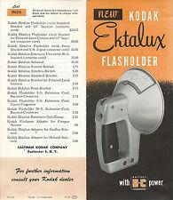 Ektalux  Flasholder & Accessories Eastman Kodak 1951 Brochure Features & Uses