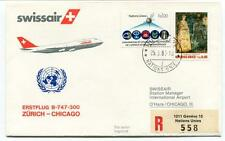 FFC 1983 Swissair First Flight B 747 300 Zurich Chicago O' Hare REGISTERED Onu
