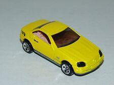 Hot Wheels Mercedes SLK MF Yellow - Tan Interior Tinted Windows - Malaysia 1998