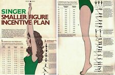 Glamour Magazine Vintage SMALL FIGURE INCENTIVE PLAN Weight Loss Insert Chart