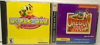 2 PC Win 95/98/Me Ms. Pac-Man Quest for the Golden Maze & The Oregon Trail >Mac