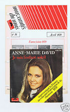 45 RPM SP ANNE MARIE DAVID (EUROVISION 1979)+(FEUILLE NEWS POLYDOR)