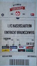 TICKET 2014/15 1. FC Kaiserslautern - Braunschweig