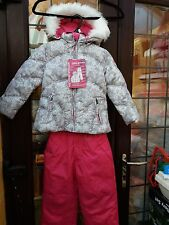 Weatherproof Girls 2 Piece Snow Set - Insulated Jacket with Bib Trousers Age 3
