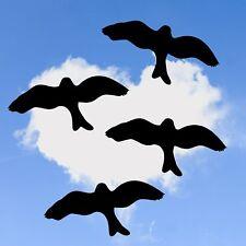4x Vogel Aufkleber 40cm, Fensteraufkleber, Warnvögel, Vogelschutz Sticker V3