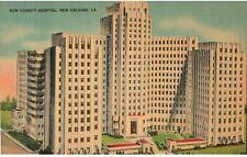 Vintage Linen Postcard New Charity Hospital New Orleans LA