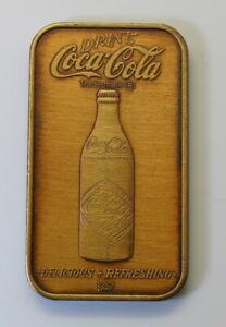 Scarce Coca-Cola Norfolk, Virginia 75th Anniversary Bronze Bar WWM-64B