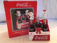 New Box Enesco 1991 Coca Cola Christmas Ornament Mice Six Pack Bottles Vintage