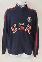Ralph Lauren Polo Mens 2012 Olympic Full Zip Navy Jacket Size L Big Pony USA
