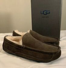 UGG ASCOT 1101110 CHARCOAL MEN'S SLIPPERS AUTHENTIC SIZE 13 WATER-RESISTANT NEW