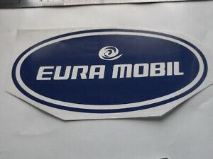 EURA MOBIL LARGE Vinyl Stickers large Caravan Camping  set x4