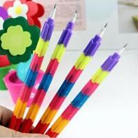 Multi-Colors Children  Kids Swap Building Block Pencils Writing Pen Stacker