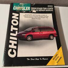 1996-2002 CHRYSLER Caravan/Grand Voyager - CHILTON Repair Service Manual 20302