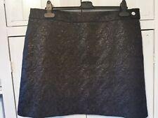 F&F Black Miniskirt, Patterned, Lined, Size 20