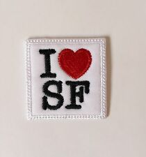 I LOVE SAN FRANCISCO (I LOVE SF) Embroidered Iron On Patch, Free Ship