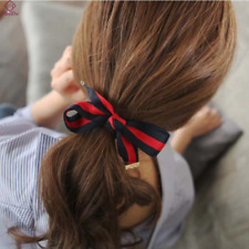 Fashion hair accessories blue and red striped hair tie