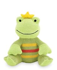Rich Frog Knit Frog Sitting K'NITS Cotton Green Yellow Red Stripes Baby 0+ NEW
