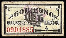 Monterrey, Gobierno de Nuevo Leon 1 Centavo 1914 Pasteboard, M3339 / SI-NUE-3 AU