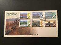 ICOLLECTZONE New Zealand 1448-51 Scenic Train NZ Heritage First Day Cover (C200)