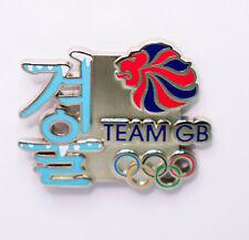 OFFICIAL Team GB pyeonchang 2018 Invernali OLIMPICI Coreano scrittura Pin