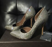 Nude $1.8 GUCCI Swarovski Crystals Strass d'Orsay Almond Pointy Toes Heels 39 9