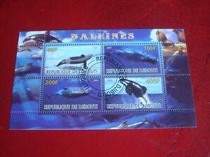 DJIBOUTI - 2009 WHALES - - MINISHEET UNMOUNTED USED MINIATURE SOUVENIR SHEET