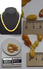 Antiques Baltic Amber Beads (rare bead shape)