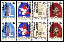 RSA Südafrika 1988 ** Mi.731/38 Flutkatastrophe in Natal Flood Disaster [sq2548]
