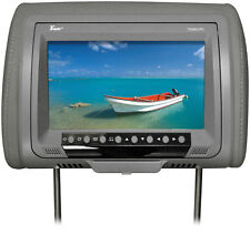 "Tview T939DVPLGR 9"" Headrest Monitor With Dvd Player Sold In Pairs Gray"