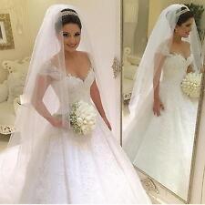 Beaded Cap Sleeve 2017 Chiffon Ball Gown Wedding Dress Custom Made Bridal Gown