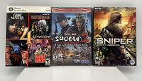 Lot of 3 PC Video Games-sniper Ghost Warrior,total War Shogun 2,adventure 4 Pack