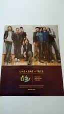 """Uno + One = Tr3S """" 2006 Rare Original Print Promo Poster Ad"""