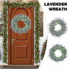 Large Door Wreath Artificial Lavender Flower Garland Door Window Hanging Decor