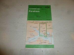 FAREHAM MAP - 1284 - Sheet SU 50/51 - Ordnance Survey Map - Pathfinder Series