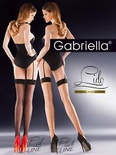 Nylon Cuban Heel Stiletto Seam Stockings Gabriella Lido 20 Denier Lycra