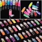 3D Nail Art 48 Bottles Glitter Rhinestone Powder Manicure Decoration Tips Beauty