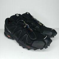 Salomon Men's Speedcross 4 Black Trail Running Shoes 383130