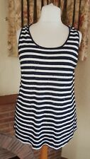 CREAM NAVY BLUE SEQUIN TUNIC TOP FROM NEXT SIZE 20  - NEW SUMMER HOLIDAY