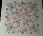 Vintage 1950s/60s Cotton Tablecloth Morning Glory Motif Flowers