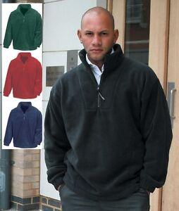 Half Quarter Zip Neck RED BLUE BLACK GREEN GREY Active Fleece Pullover Jacket
