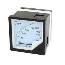 1Pcs 6C2 0-1500r/min Square Panel Analog Speedometer Tachometer DC 10V