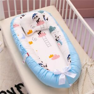 0-18Months Baby Portable Nest Bassinet Bed with Pillow Sleeping Crib infant