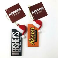 Hershey's Christmas Ornaments Reese's and Hershey Bar Holiday Tree Decorations