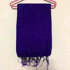 Dark Blue Yak Wool Shawl Scarf Wrap Tibetan Nepalese Handmade Nepal YS03