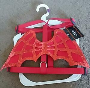 DOG COSTUME Devil Wings Harness Red Holiday Halloween Dress Up Size XS/S M/L NWT