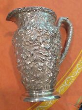 Rare Reprose Ornate Sterling Silver Large Water Pitcher Jug 26.95 Oz Schofield