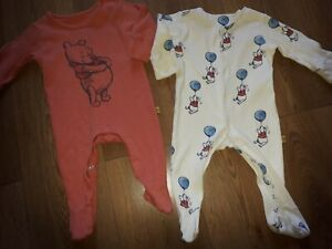 Babies Sleepsuits...Marks And Spencer...3-6 Months.  . Pooh Bear...